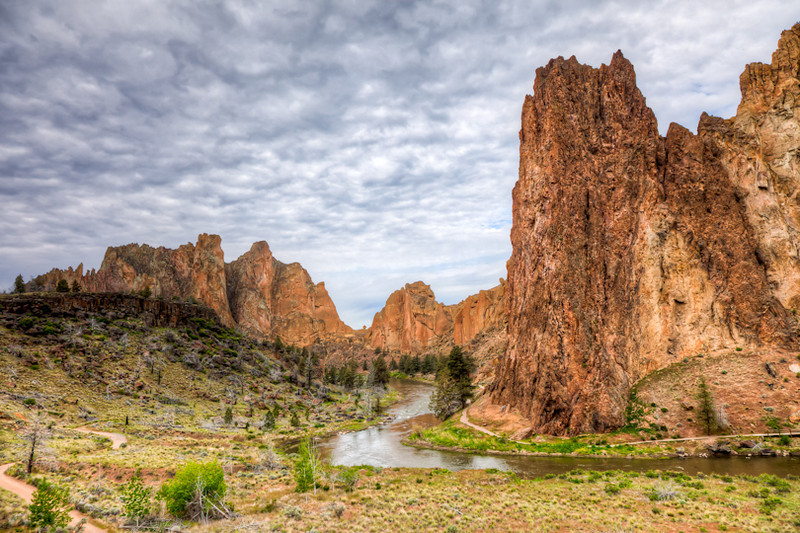 Smith Rock State Park, a popular rock climbing site