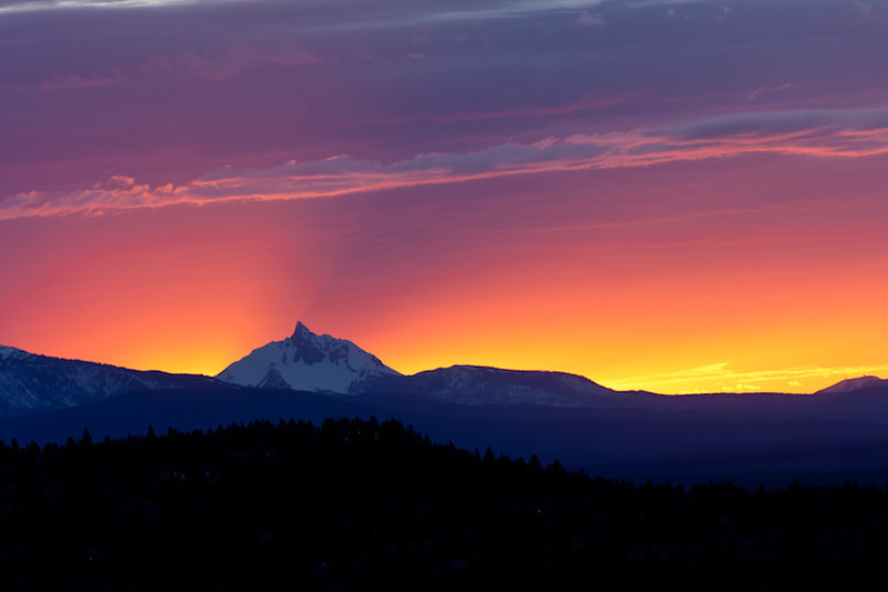 Sunset from Pilot Butte in Bend