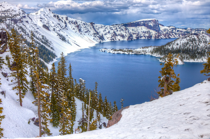 Crater Lake in June