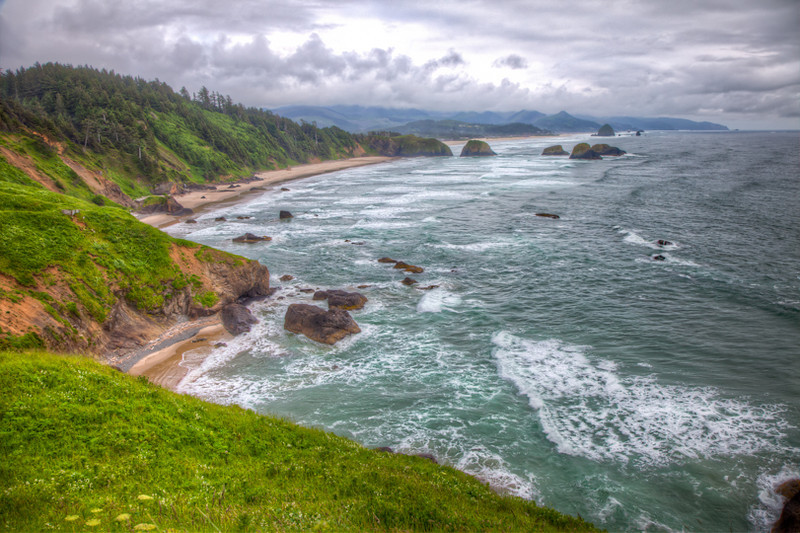 Cannon Beach as seen from Ecola State Park, Oregon coast