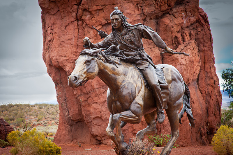 We traveled to St. George, UT for a softball tournament and saw this magnificent bronze.