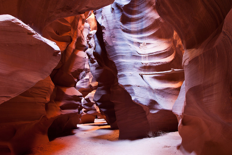 We're inside Antelope Canyon, a slot canyon created by rushing water.