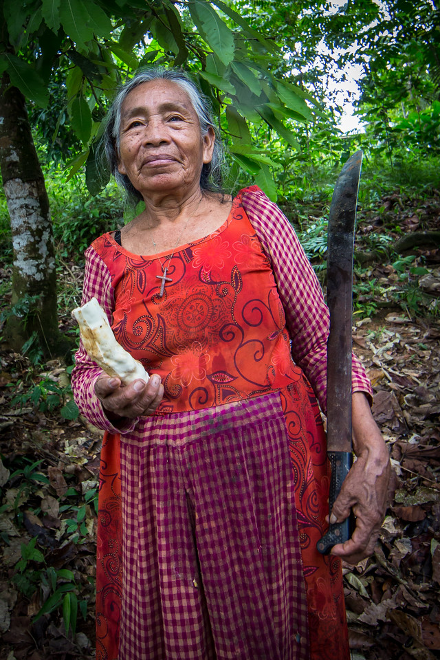 We met this woman on the trail. Sure glad she was friendly carrying that big machete.