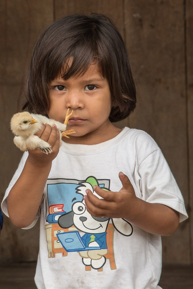This is one of my favorite pictures from the trip.  This little girl wanted to show me her baby chicken, and in fact....reached out to give it to me, but I politely declined.