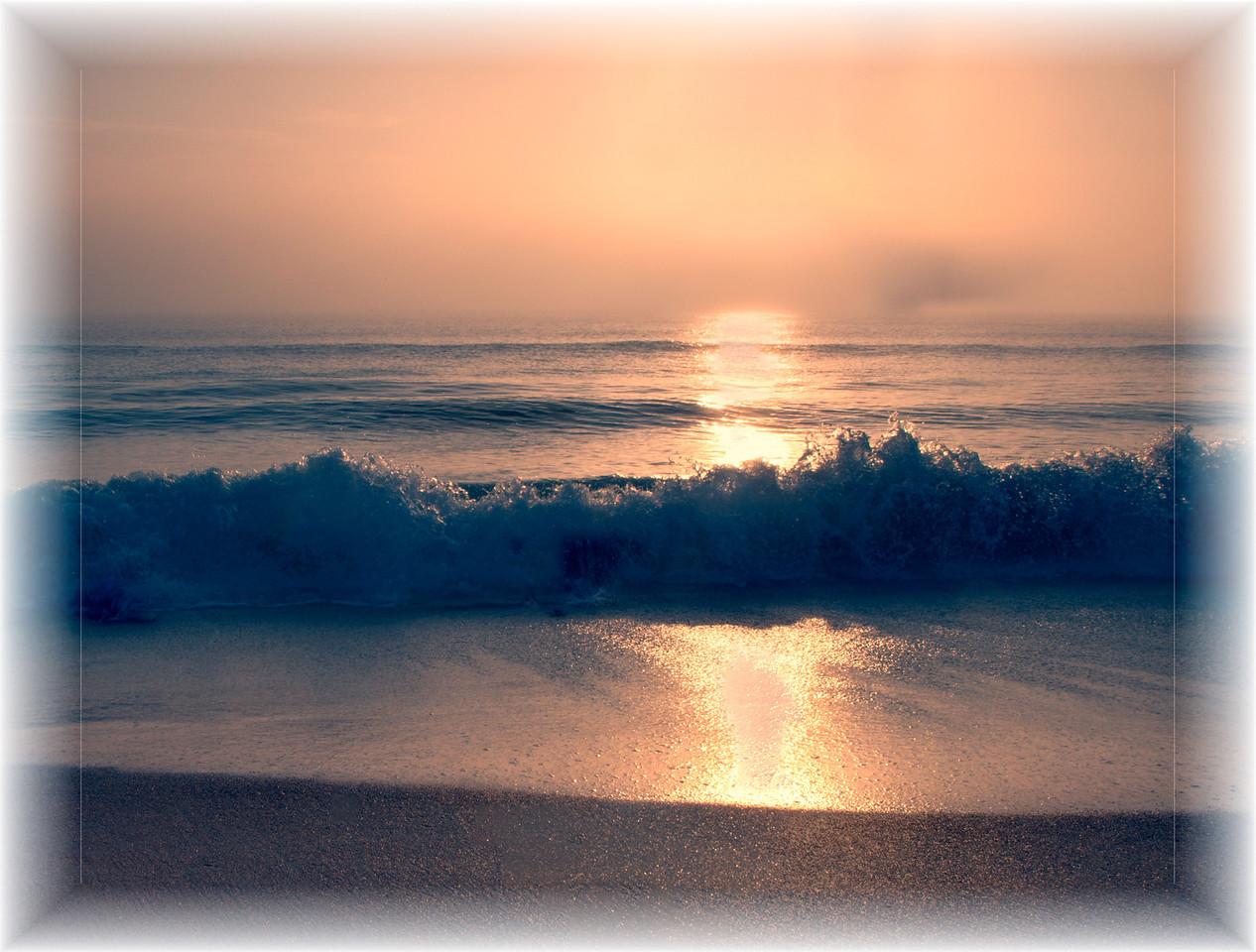 Foggy surf