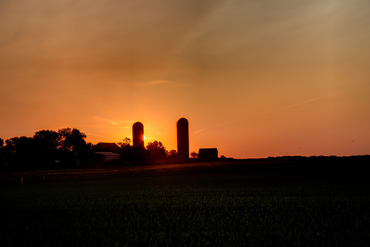 Farm country, central Illinois