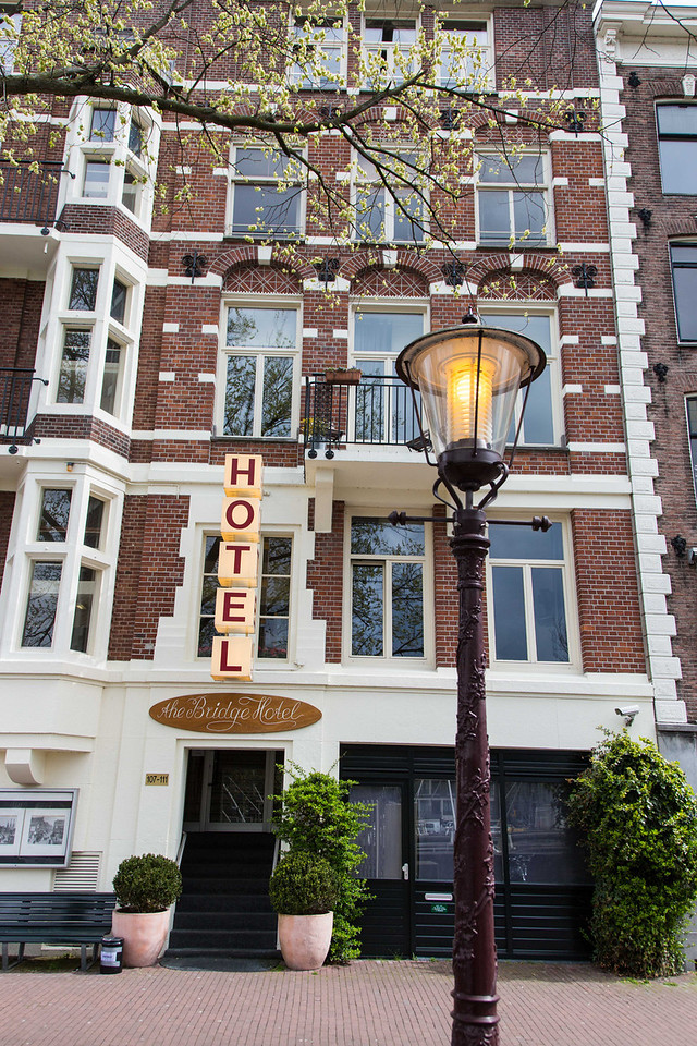 Our cozy hotel in Amsterdam.