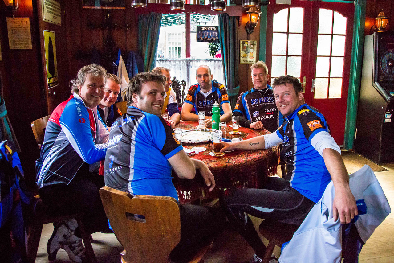 These fellows were part of a bicycling club and had passed us earlier, but we found them in the pub refreshing themselves.