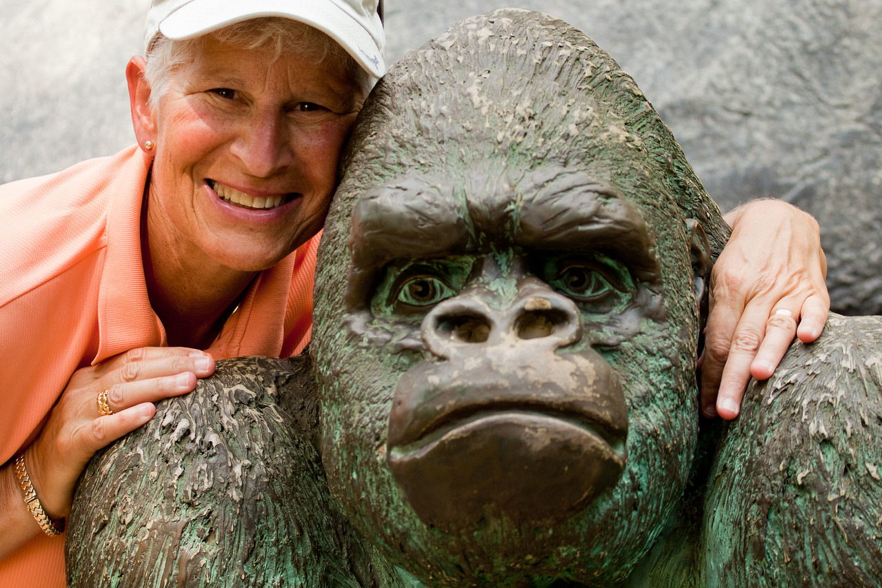 Now, can you tell which one is the Gorilla and which one is my gorgeous wife?