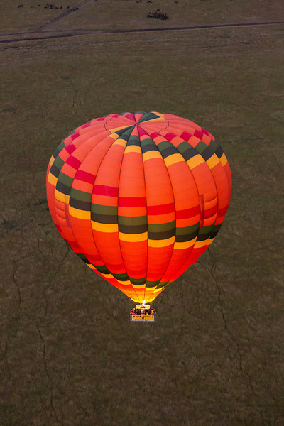 This colorful balloon was sailing below us.
