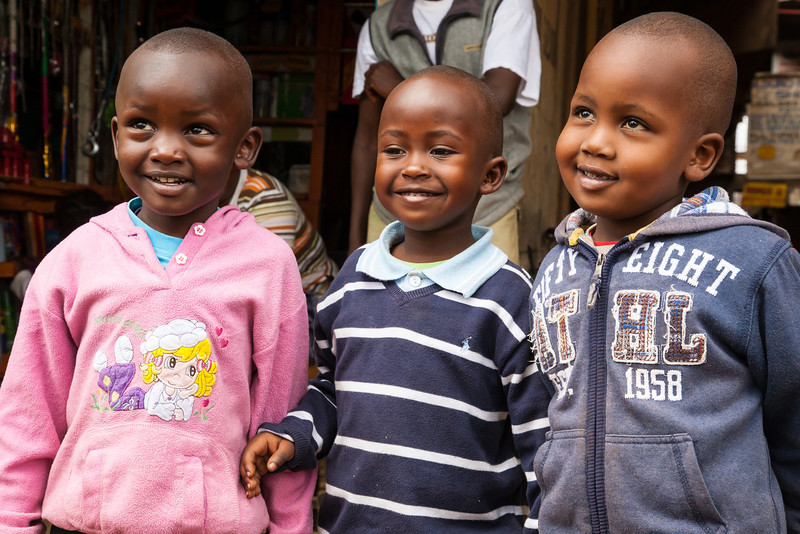 Three of the cutest kids we saw on the entire trip.  These young Kenyans loved posing for us.  You gotta love those smiles...