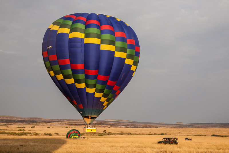 An early morning hot air balloon trip in Kenya was one of the highlights of our trip.  Following our hour-long balloon ride we were treated to a delicious outdoor champagne breakfast.