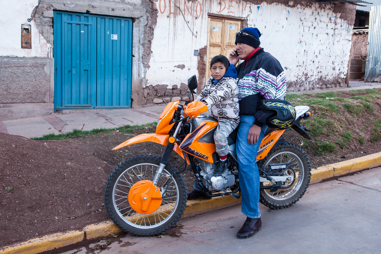Father and son in Urubamba.
