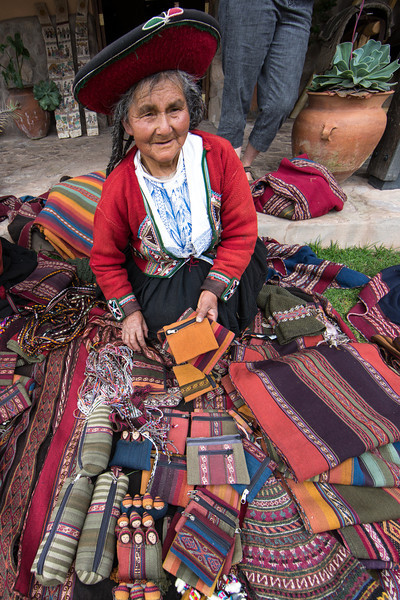 After the demonstration each woman laid out her wares and was eager to sell us their handmade goods. Julie of course made a purchase.
