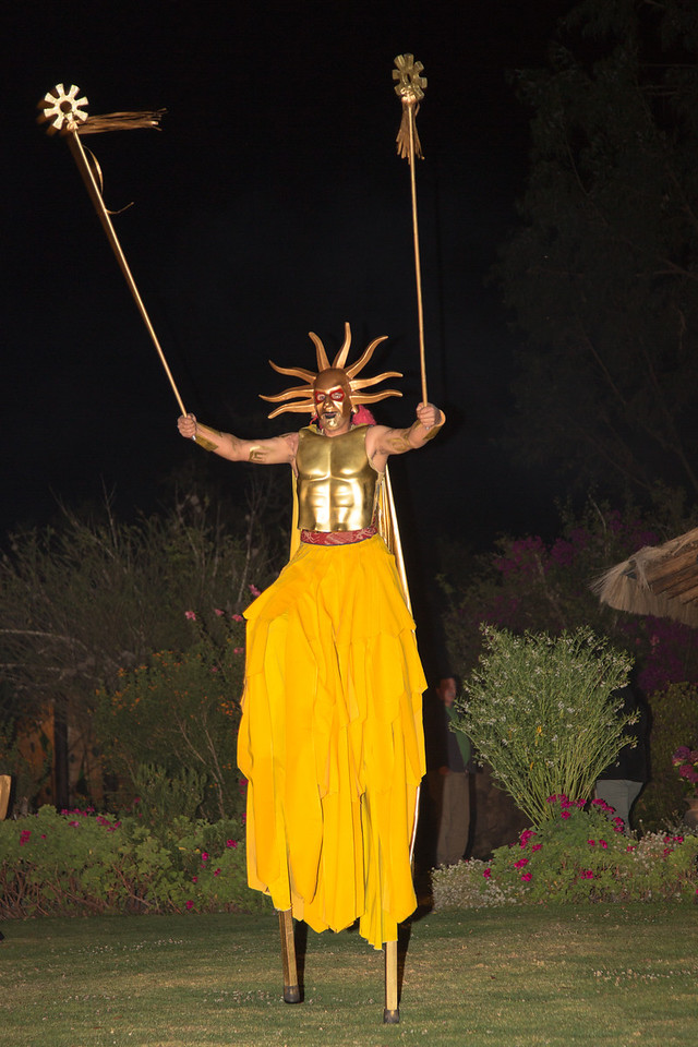 During our stay at Sol y Luna we were treated to a Peruvian folklore dance performance