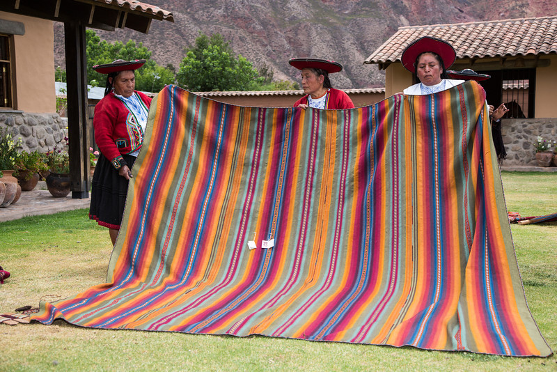 Can you imagine how long it took to weave this large blanket?