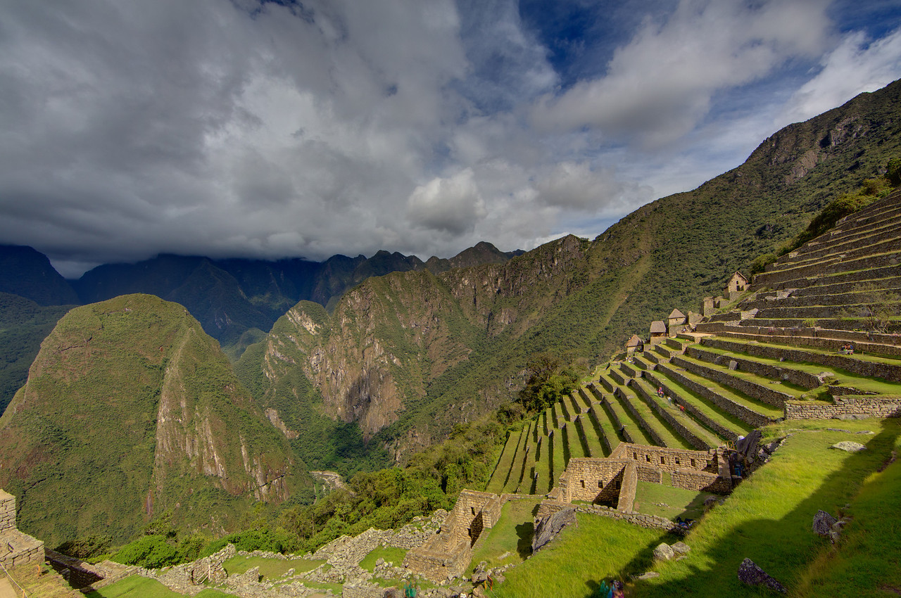 The terraced fields were used to grow maize and potatoes