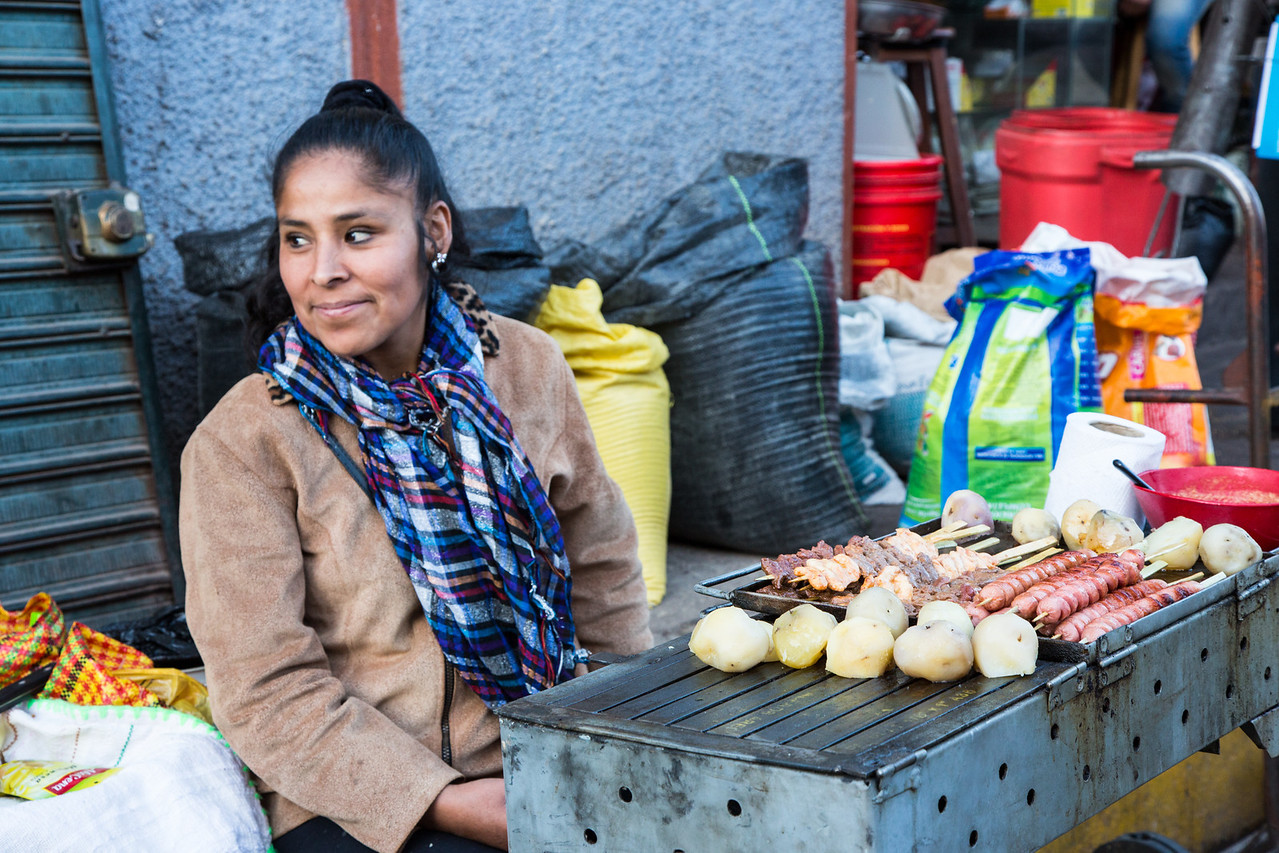 A few of us took a walk into Urubamba which was a cultural experience that helped us see how these Peruvians live. Here is a street corner vendor offering an evening meal.