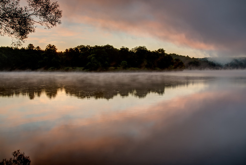 Sunrise on the Kennebec River near Skowhegan, Maine