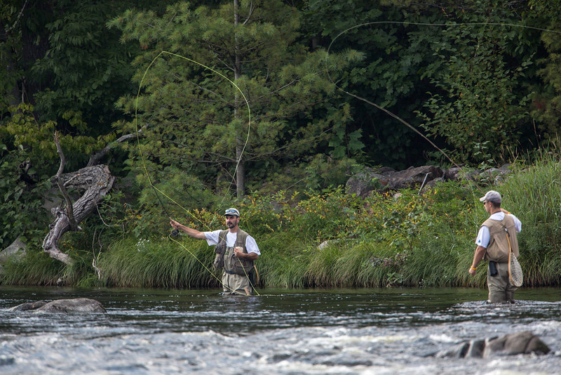 Fly fishing on the Penobscot near Millinocket