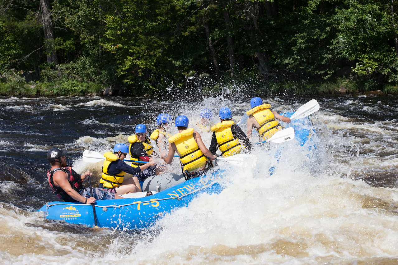 A wet and fun ride rafting the Penobscot