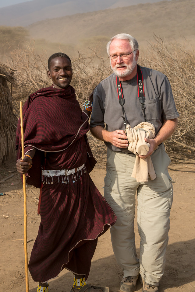 Lucas, the son of the tribal chief, greeted our safari leader, Paul Renner. Paul was raised in Tanzania by his missionary parents and speaks Swahili fluently.