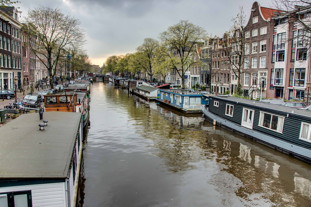 In earlier times Holland had a severe shortage of houses on land so houseboats became very popular and continue to be so today.