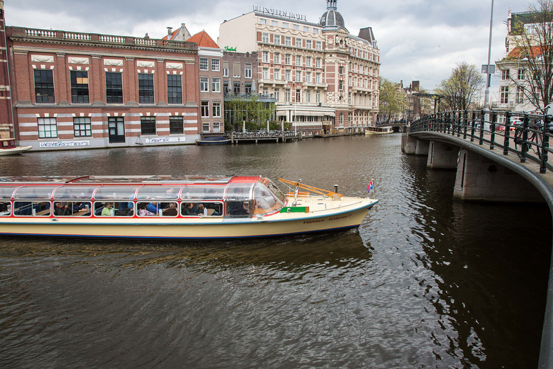 Amsterdam is well known for its elaborate network of canals.