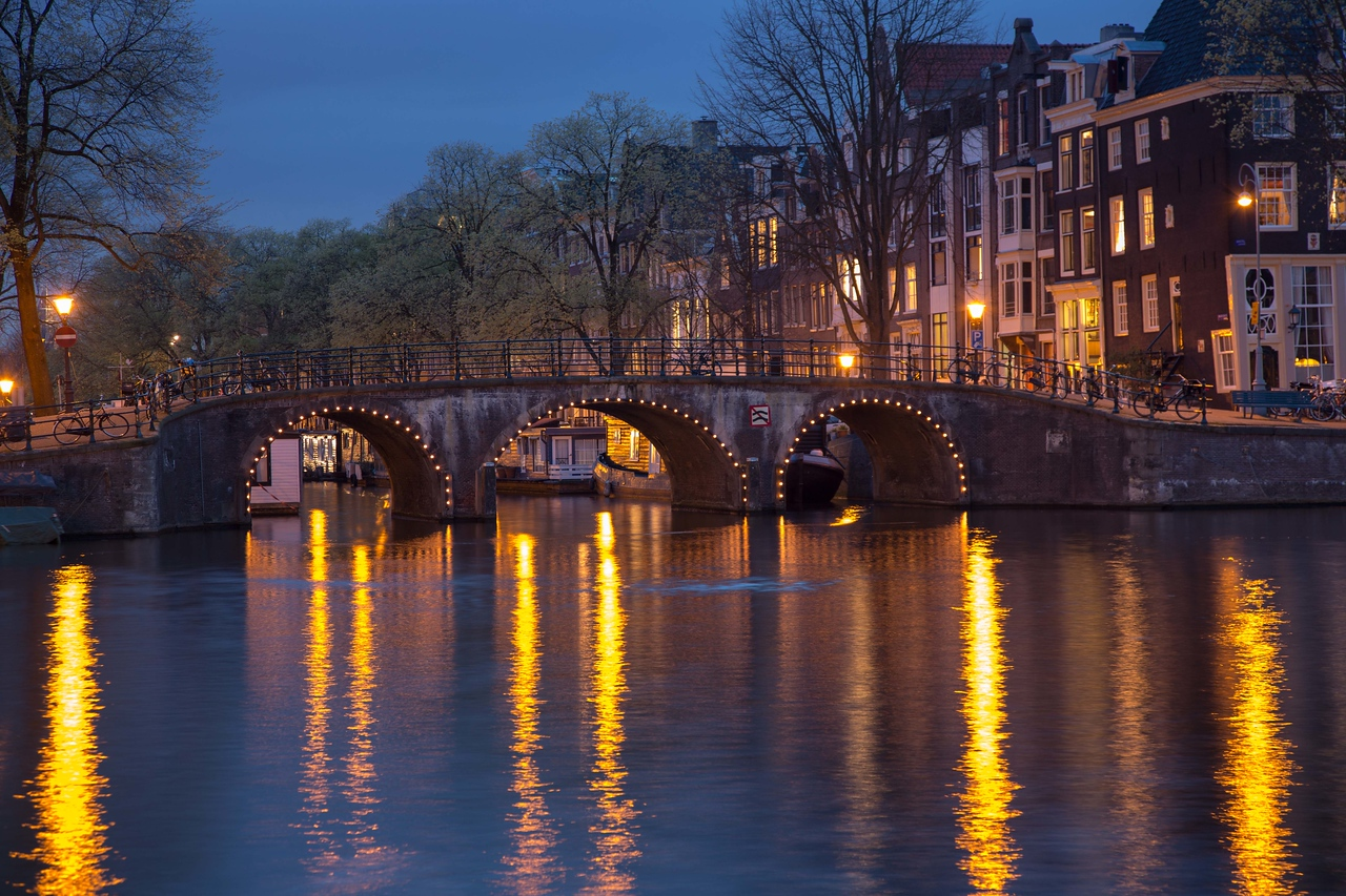 Amsterdam is a charming city -- day or night.