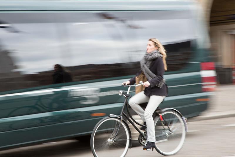 Biking in style.
