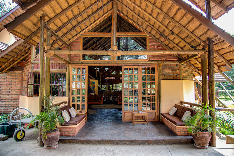 We did not suffer any inconveniences. Here's our first lodge, the Arumeru River Lodge.