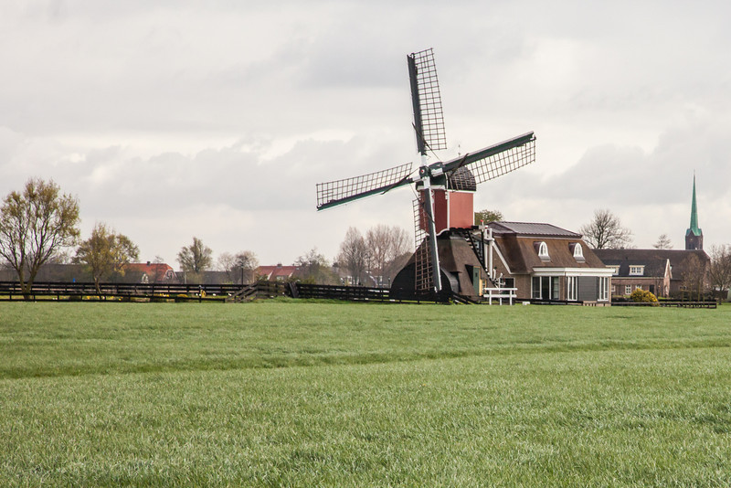 Today only 1100+ windmills remain in The Netherlands with many now converted into houses.