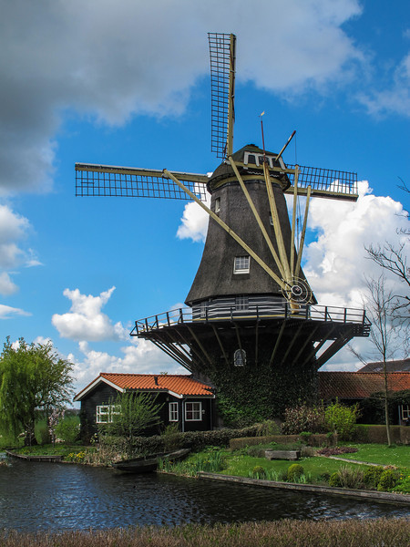 A traditional Dutch windmill -- now converted into housing.
