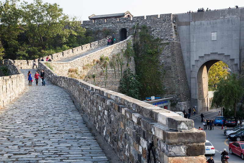 We visited the Ancient Wall of Nanjing. It's 32 kilometers long encircling the inner City.