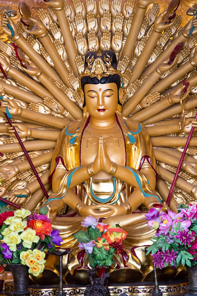 This is Guanyin Pusa, a goddess-like figure in Buddhism.