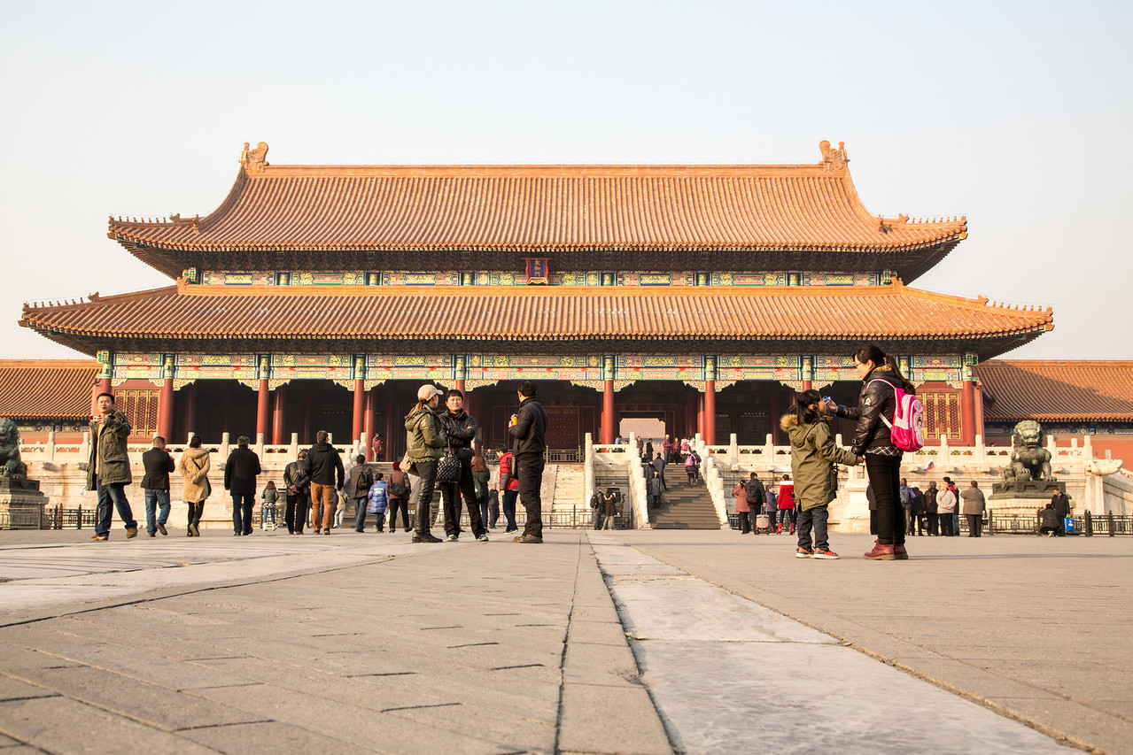 The Forbidden City, located in the heart of Beijing, was the Chinese imperial place from the Ming Dynasty to the end of the Qing Dynasty, a period of about 500 years.
