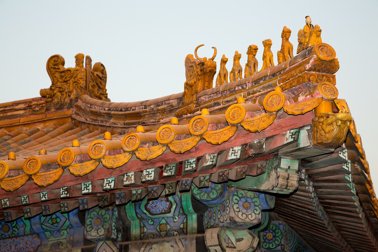 This close up shows the elaborate style of roof construction which was done with interlocking pieces of wood and no nails.