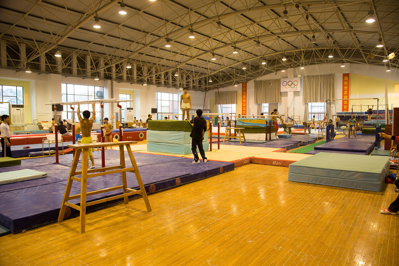 Here is one of several gyms for gymnastics. We saw swimming, diving, basketball, table tennis, and badminton facilities as well.