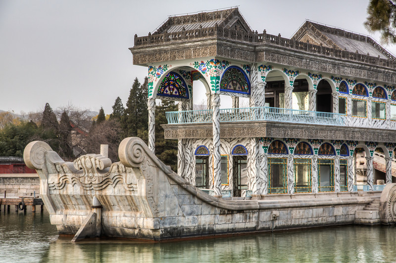 The Summer Palace sits next to a large lake with this stone houseboat as a monument. From the Summer Palace we visited Tshinghua University. The next day we visited three more universities and institutes and then returned to the US.