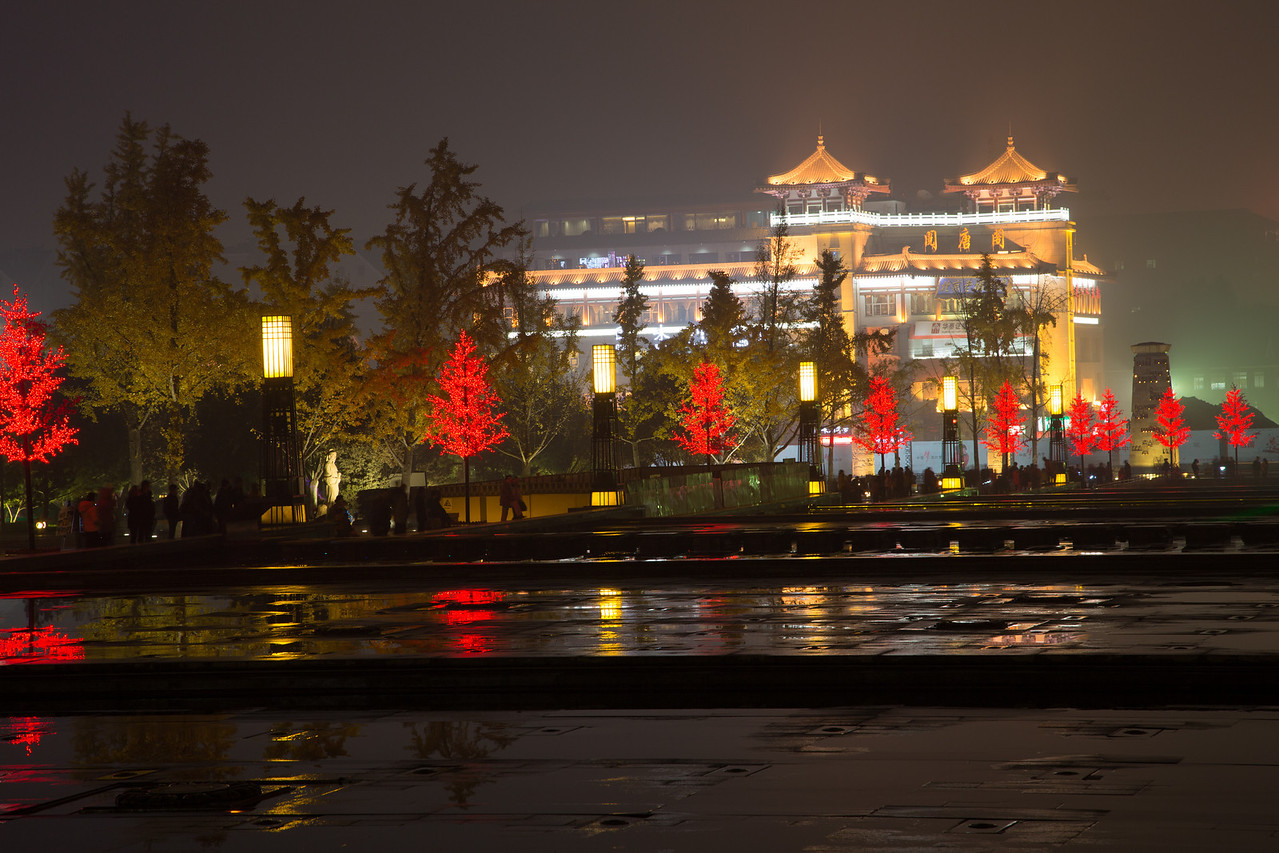We were fortunate to see an evening water/light show in Xian.