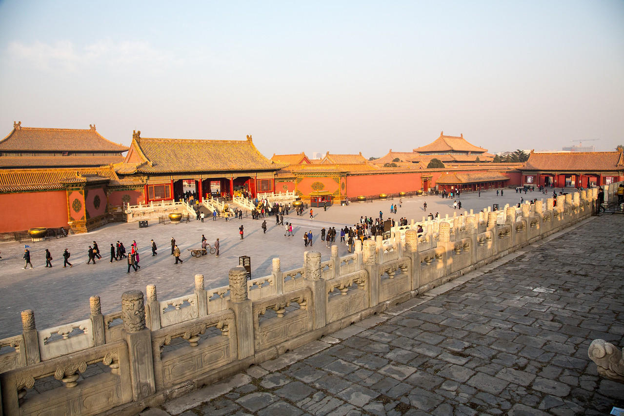 The Forbidden City was built from 1406 to 1420, includes over 900 buildings, and occupies 7.8 million square feet.
