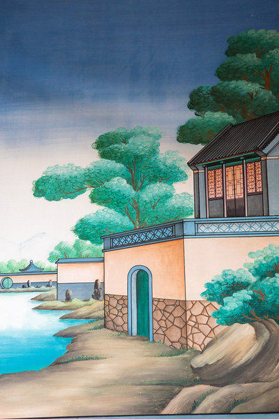 Upon return to Beijing we visited the Prince Kung Mansion. This is a painting on the wall on the Mansion grounds.