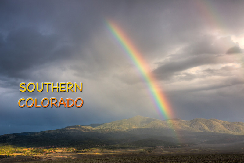 We were welcomed to southern Colorado with this beautiful rainbow.