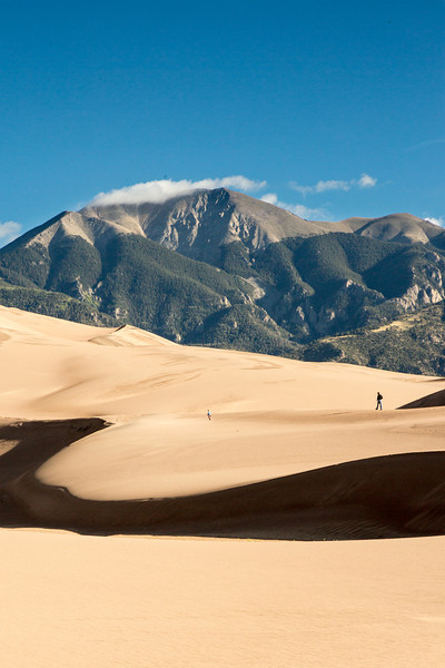 The dunes were created by erosion from the mountains, then shattered by freezing and thawing, and tumbled by streams and wind.