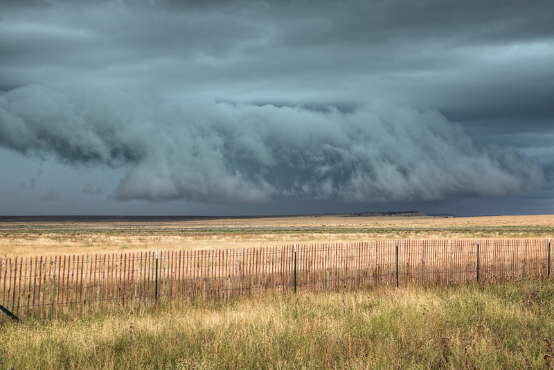 Storm crossing the plains of eastern Colorado
