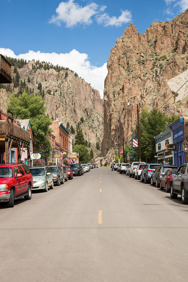Main street of Creede, CO, a fun little tourist town