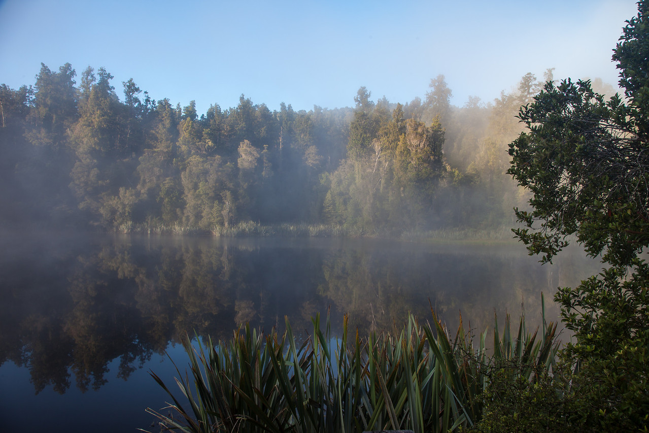 "An early morning ""mystical"" view of Lake Matheson, outside the town of Fox Glacier."