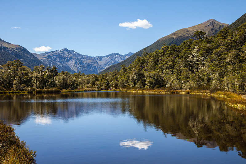 A typical New Zealand sight -- mountains, water, reflections.  This was taken on our drive from Kaikoura to the West Coast.