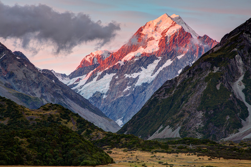 Mt. Cook at sunset.