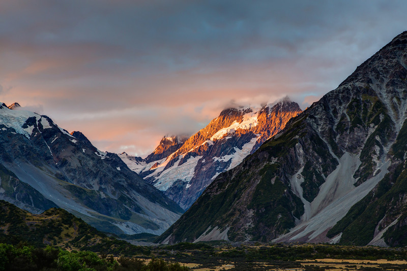 A stunning view of Mt. Cook.